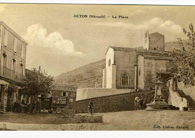 Octon place du village autrefois