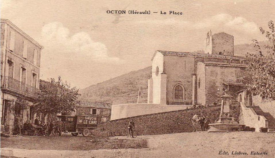 Place village Octon autrefois
